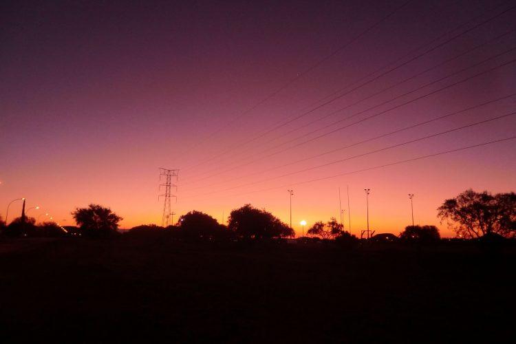 So sieht der Himmel abends recht häufig aus.