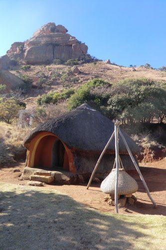 Eine traditionelle Hütte.