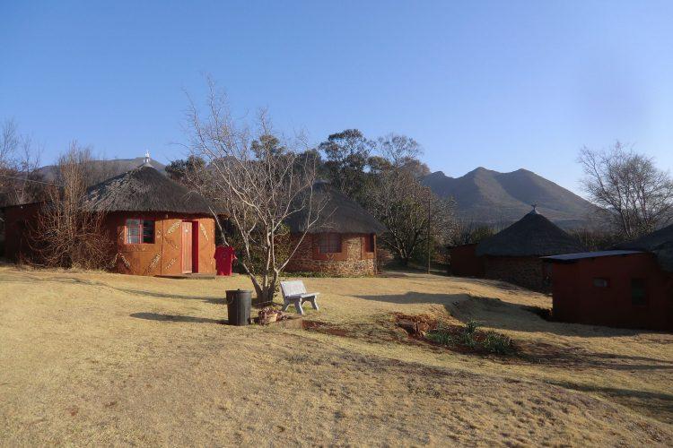 Abrupter Sprung nach Lesotho :-) Im Bild die Malealea-Lodge, wo wir übernachteten.
