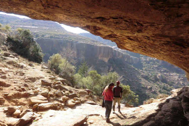 Die sogenannte Echo Cave - wenn man hier ruft, ist es auf der anderen Seite der Schlucht zu hören.