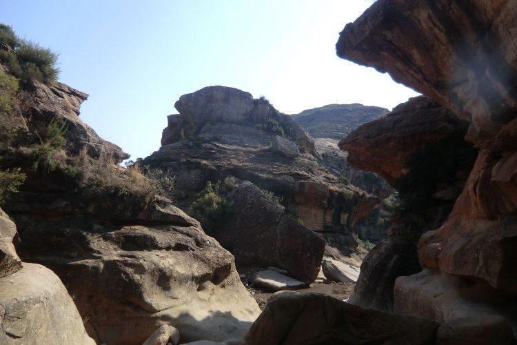 Am Ziel: Die Pitseng Gorge...