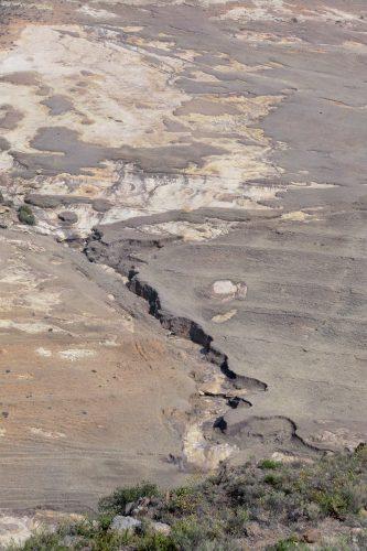 Hier kann man gut erkennen, wie sich die Flüsse im Laufe der Zeit regelrecht in die Landschaft hineingraben.