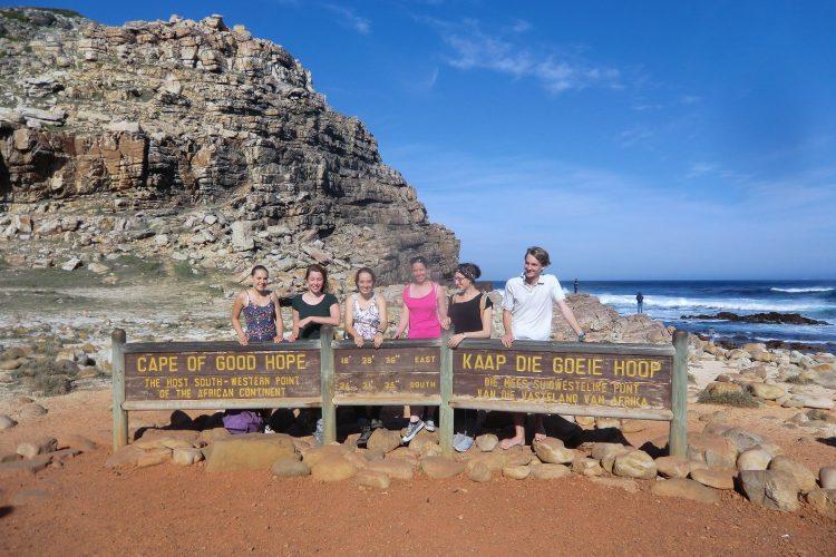 Das obligatorische Touristenfoto am Kap der Guten Hoffnung.