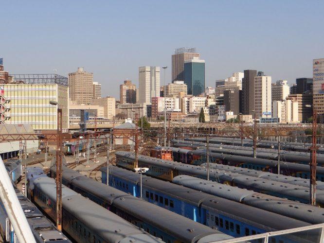 Der zentrale Bahnhof, der Johannesburg unter anderem mit Soweto verbindet.