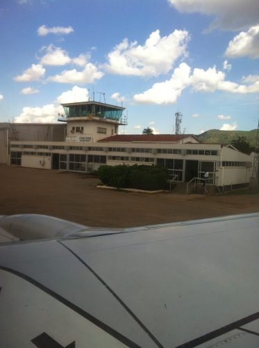 Arrival in Blantyre. This one building is essentially the whole airport.