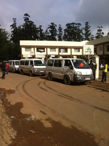 These are the minibuses which basically make up the whole public transport.