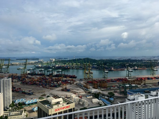 One of the busiest ports in South-East Asia.