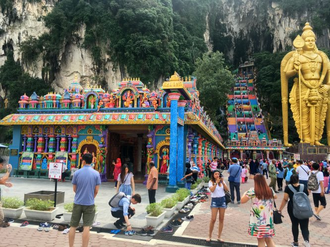 Just north of KL are the Batu Caves, an important Hindu temple in a huge cave.