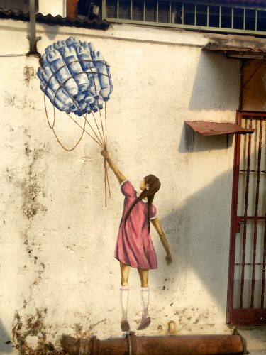 George Town is known for its street art.