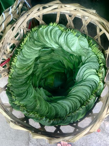 The infamous betel leaves...
