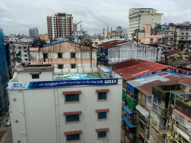 The former capital Yangon/Rangoon is very worn down, wet and smelly.