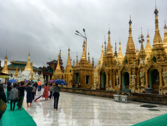 Shwedagon Paya, the holiest site of Myanmar Buddhism.