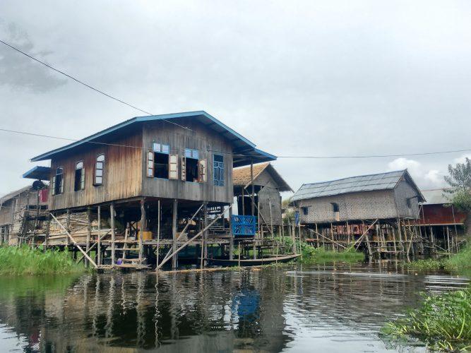 Entire villages built on poles.