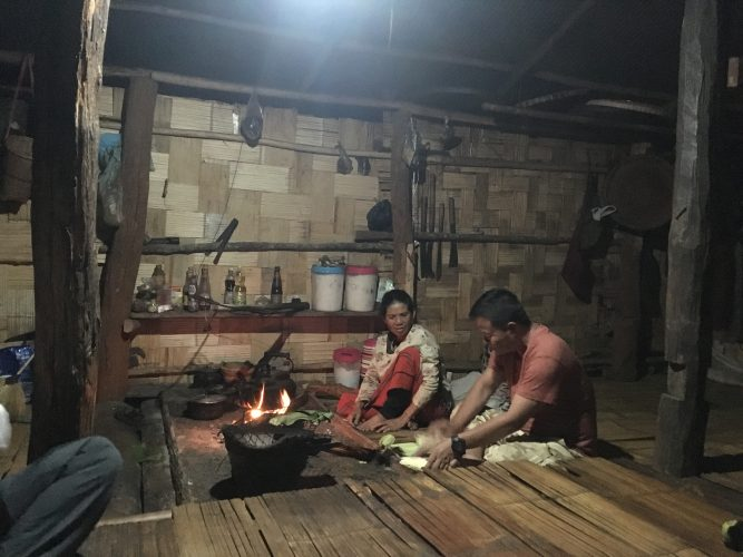 At night, we visited relatives of our guide to have tea, grilled corn and whiskey, which seemed to be the standard evening pastime in the village.