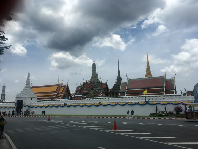 The Grand Palace in Bangkok, the official royal residence from the 18th to the 20th century.