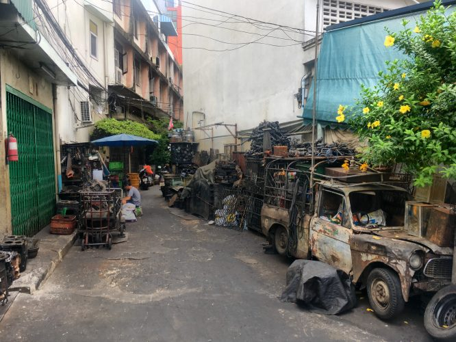 Right in the heart of Chinatown, several streets resembled scrapyards.
