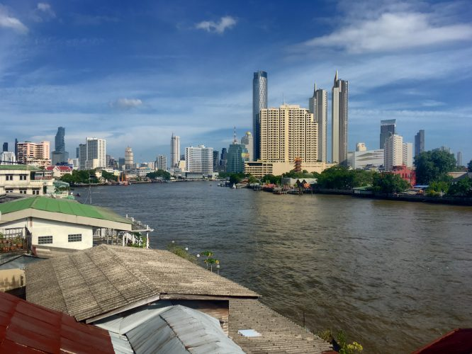 The Chao Phraya, Bangkok's main river.