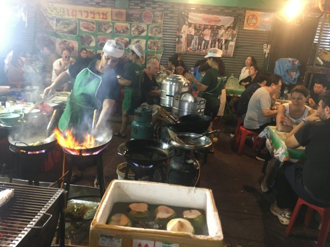 Bangkok is famous for its street kitchens, here in Chinatown.