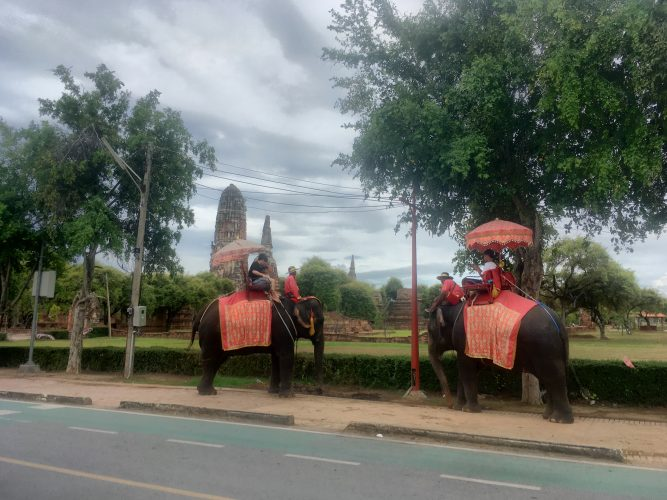 And this is what they had to do before - seen at a tourist site close to Bangkok.