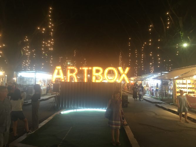 Bangkok also has endless cultural activities going on. This is on a night market around the corner from where we lived.