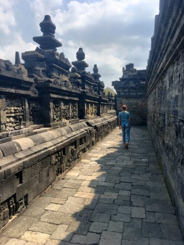 Close to Yogyakarta, Borobudur is the world's largest Buddhist temple constructed in the 8th century.
