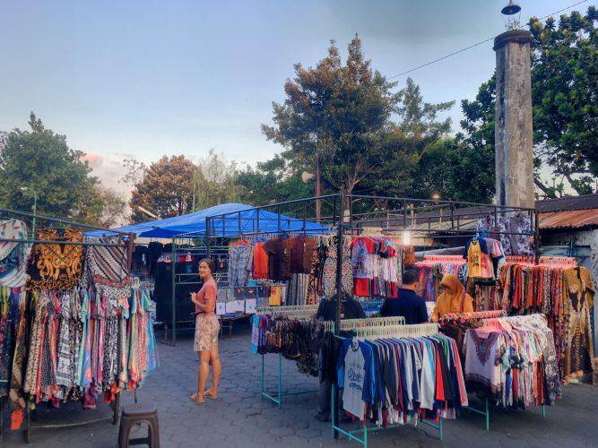 The local market for Batik clothes.