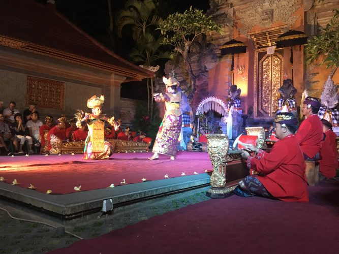 Ubud is one of the best places on Bali to see a traditional dance performance.