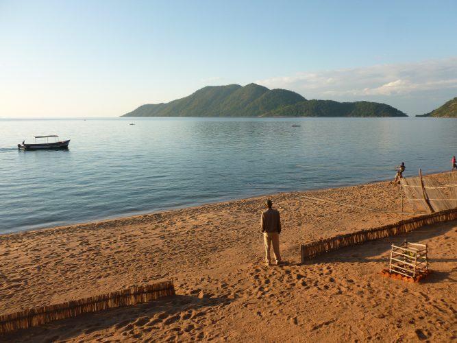 At Lake Malawi.