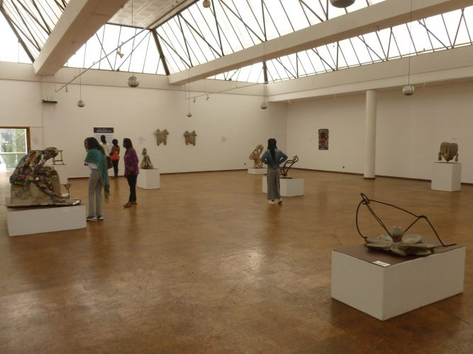 Harare has a very active cultural scene. This is inside the National Gallery, showcasing contemporary Zimbabwean artists.