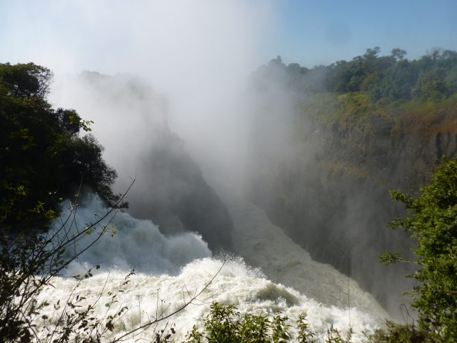 """This part of the falls is called """"the devil's cataract"""". I stood at that spot for over an hour, just watching the water rushing down and feeling its power."""