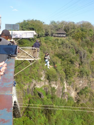 On my way back, I saw this couple doing a bridge swing which is probably not as bad as bungee jumping, but still.