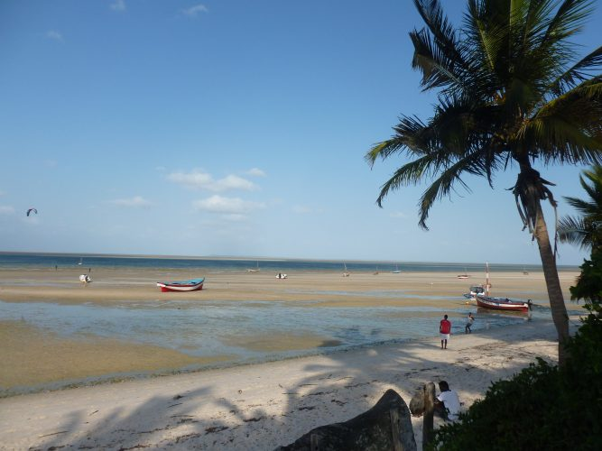 That is in Mozambique in Vilanculos, where I spent the last week of my travels. The backpackers where I stayed is right by the beach.