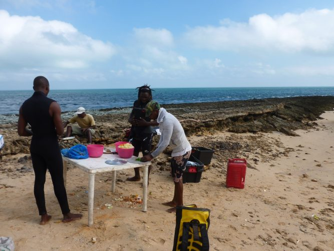 The tour included a lunch cooked on the beach :)